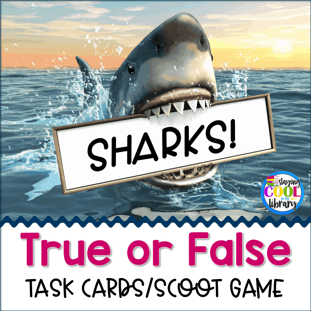 Sharks True or False Task Cards/Scoot Game