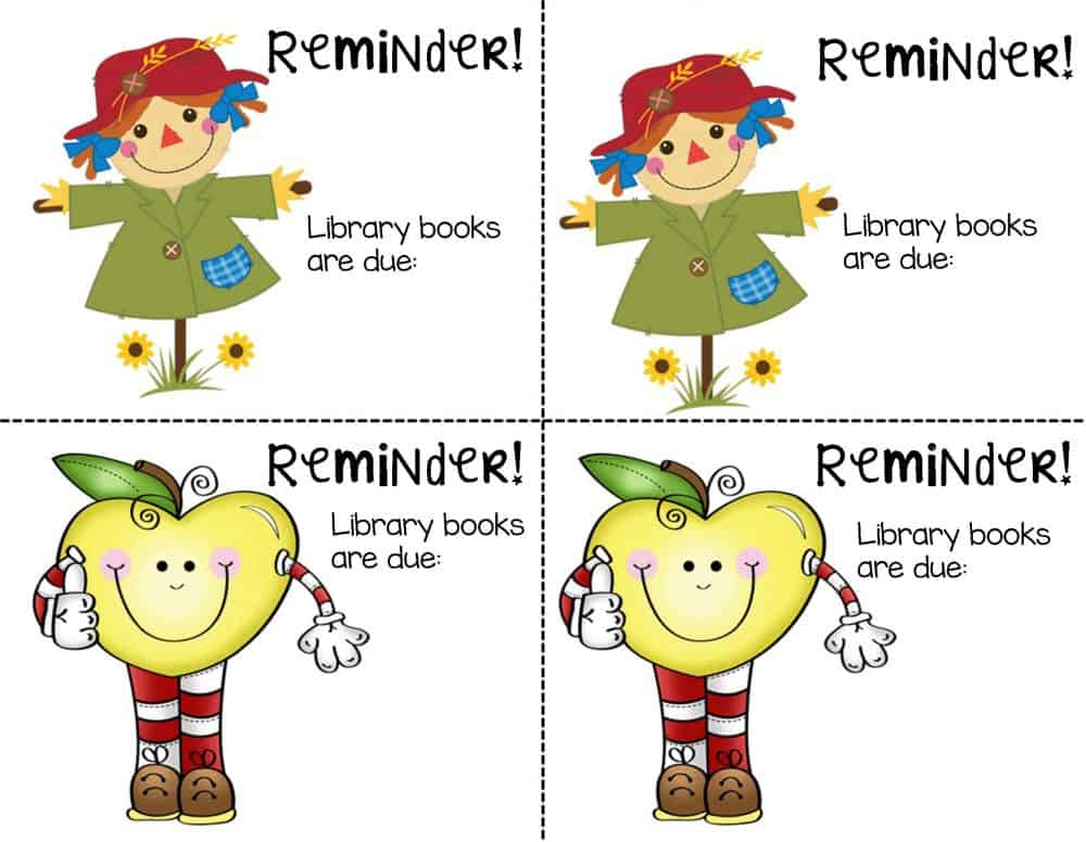 Library Reminder Notes