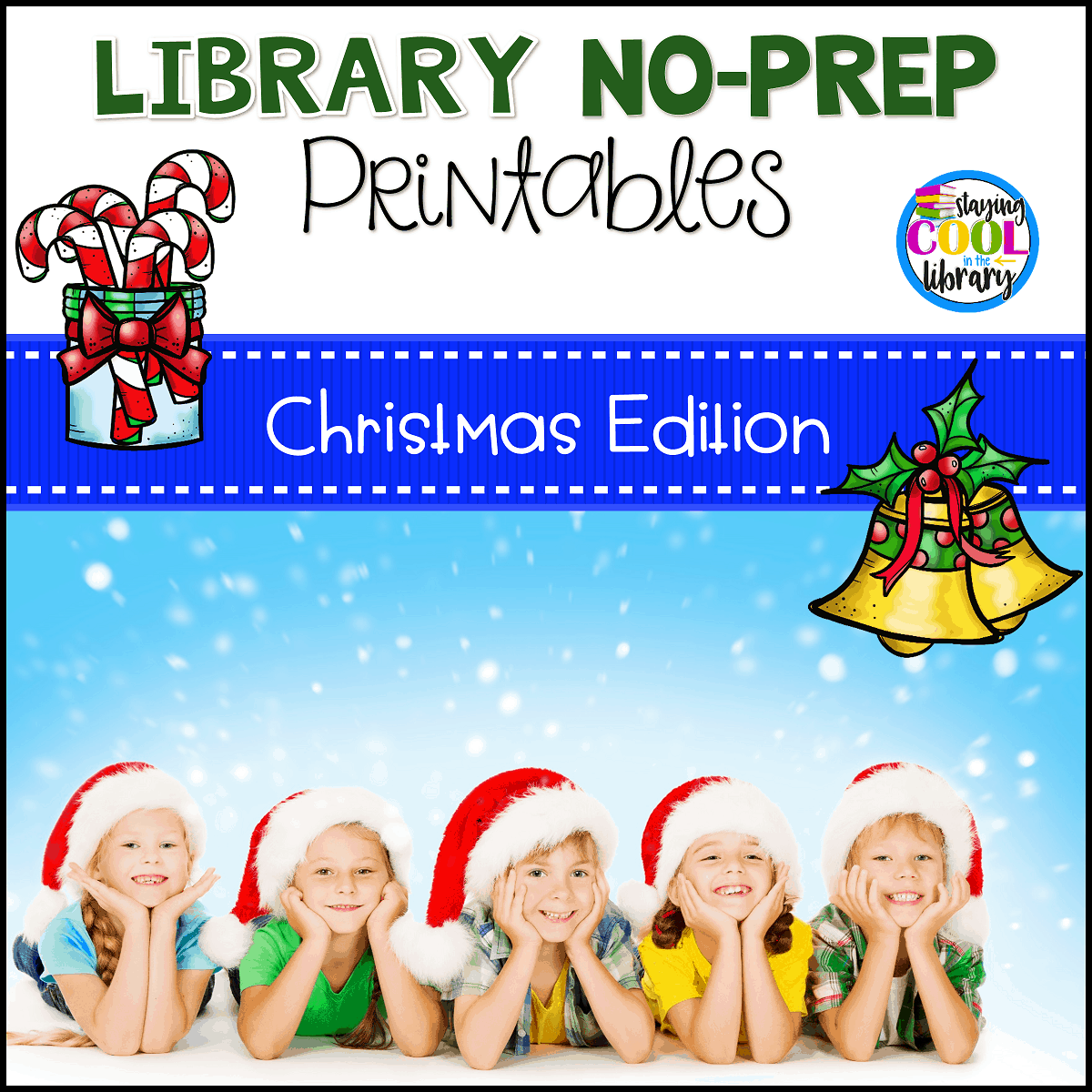 Library No Prep Printables - Christmas