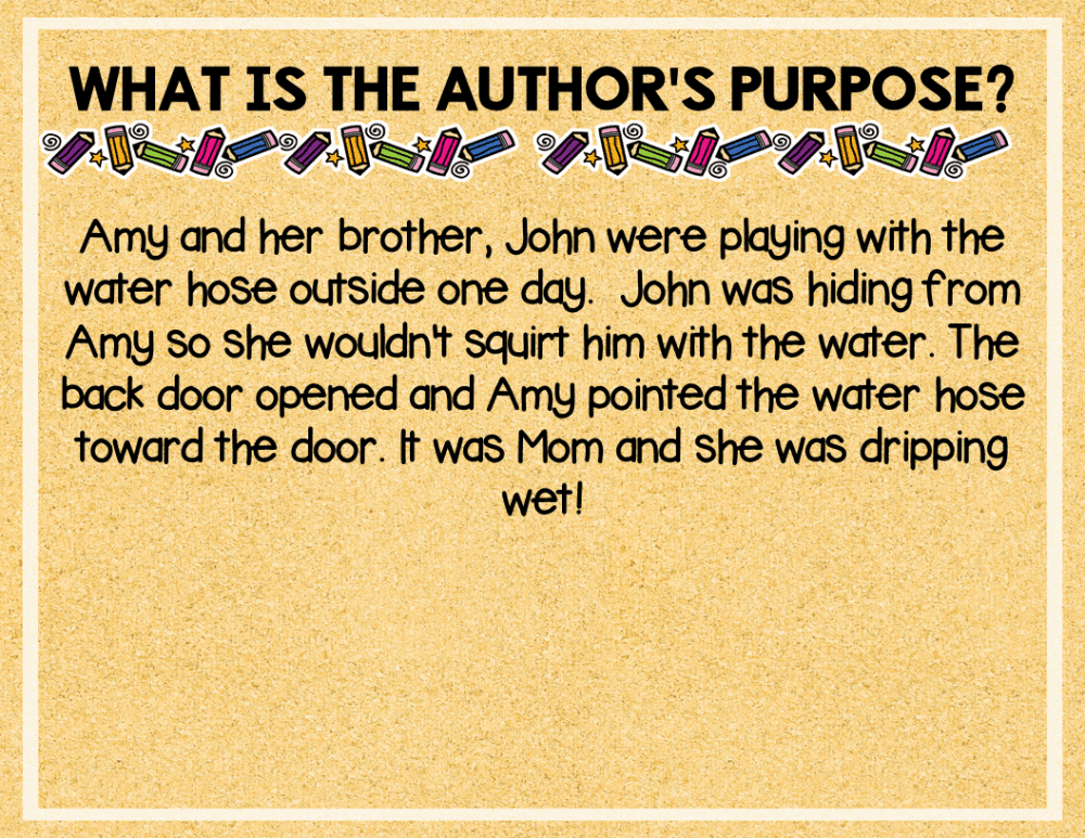 Author's Purpose PowerPoint and Worksheets
