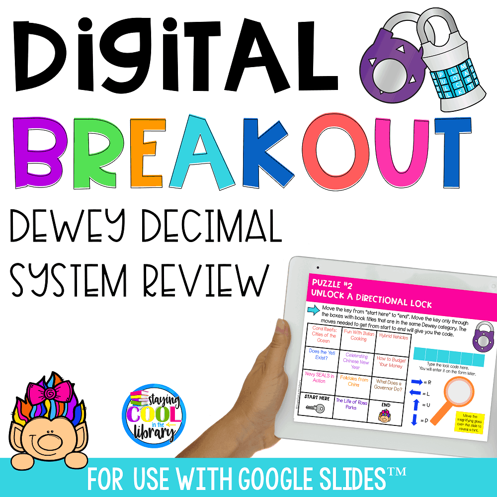 Digital Breakout - Dewey Decimal System Review