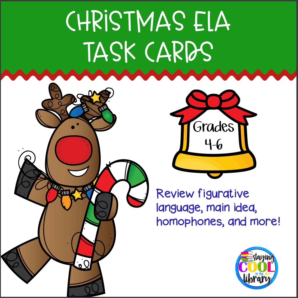 Christmas ELA Task Cards, 12 Days Christmas Lesson Plans