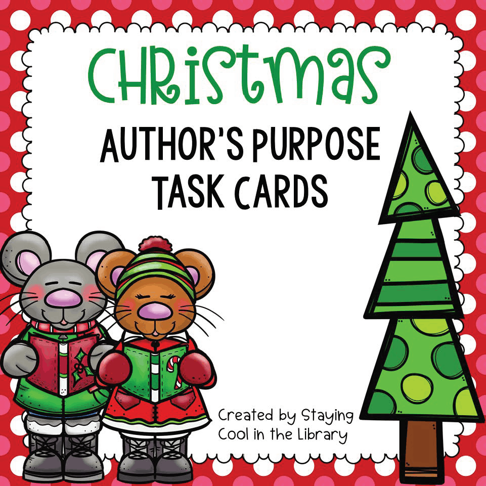 Christmas Author's Purpose Task Cards, 12 Days Christmas Lesson Plans