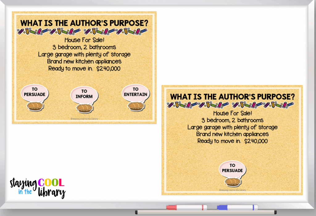 What is author's purpose?