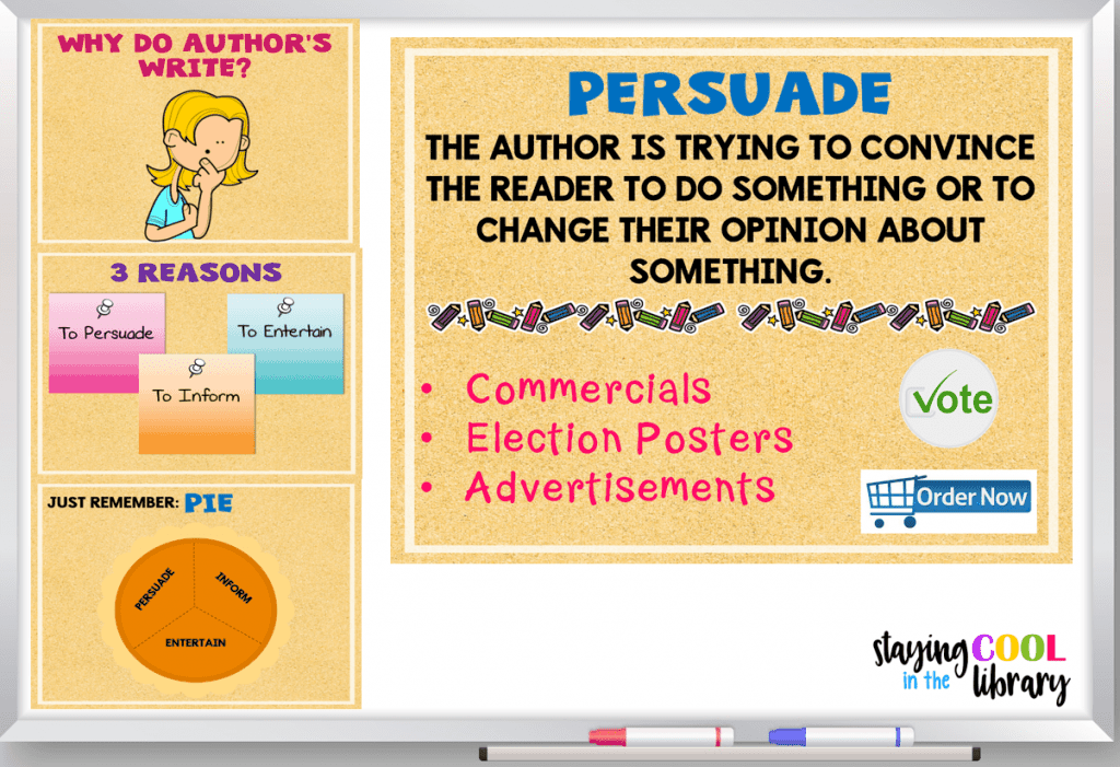 Powerpoint for teaching author's purpose