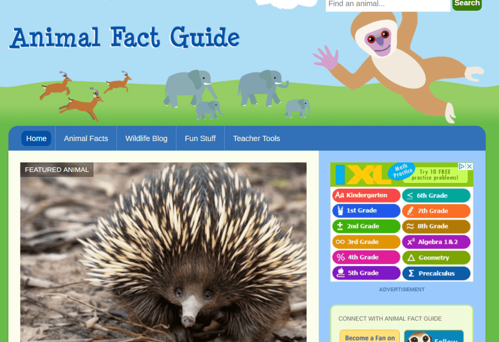 Animal Fact Guide - Animal Websites for Students