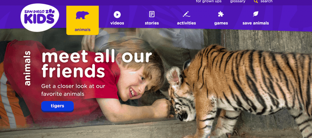 San Diego Zoo Kids - Animal Websites for Students