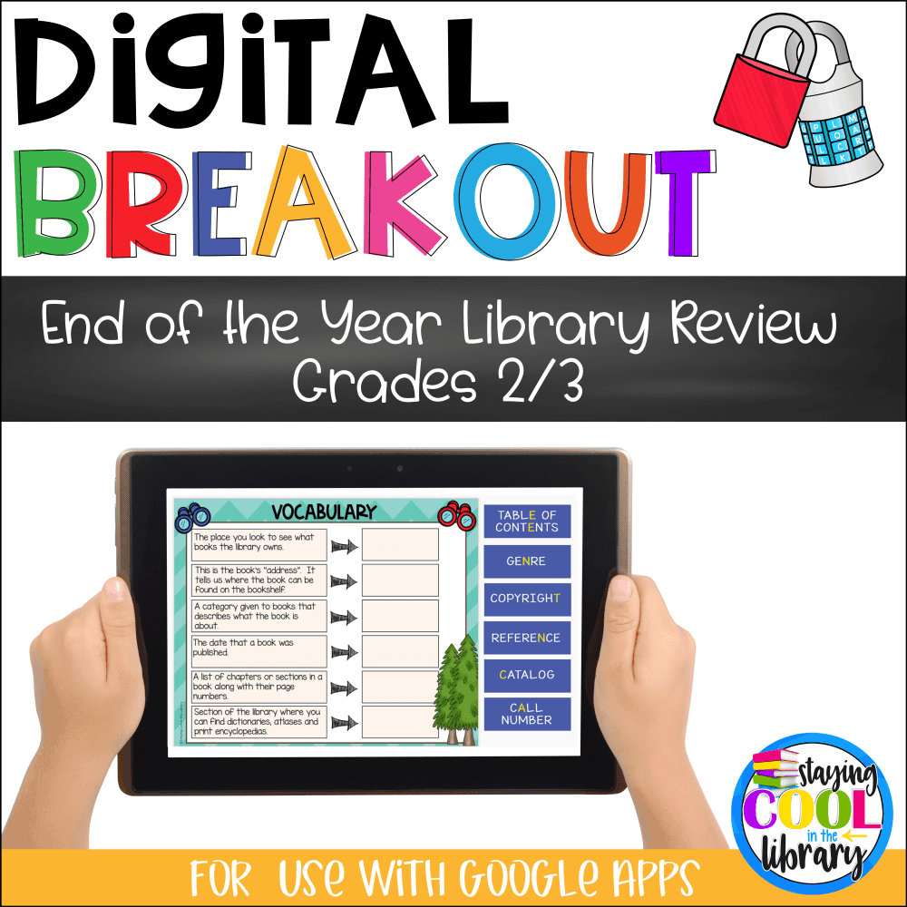 End of the Year Library Review - Digital Breakout Gr. 2/3
