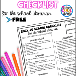 Free back to school checklist for school librarians