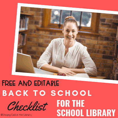 Back to school checklist for school librarians