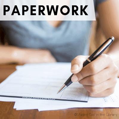 Paperwork - Back to School Checklist for School Librarians