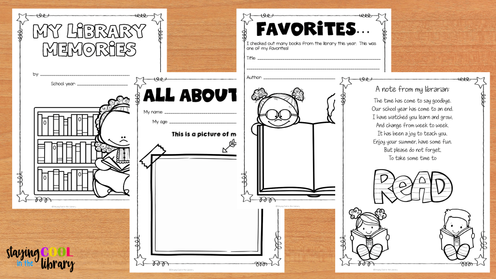 Kindergarten and 1st grade End of the Year Memory Books