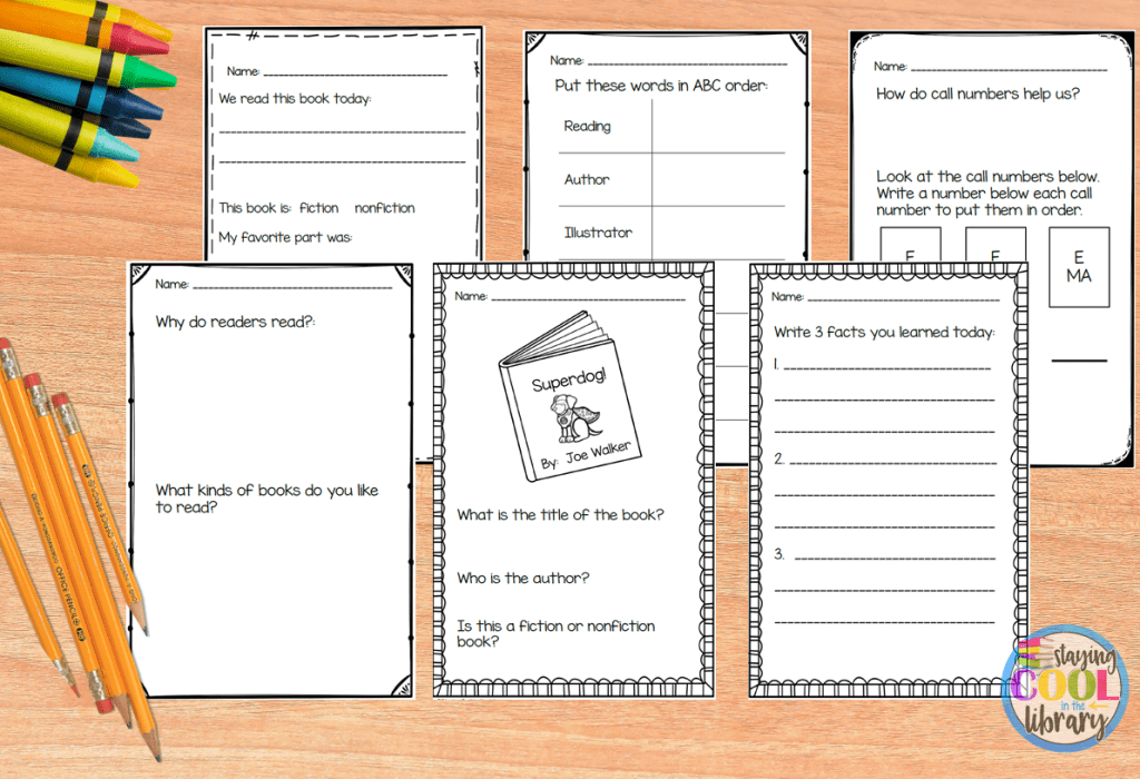 Exit Tickets in the School Library