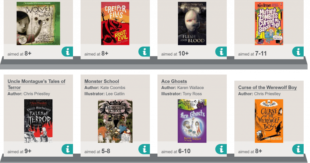 BookTrust screenshot, websites to help students find their next read