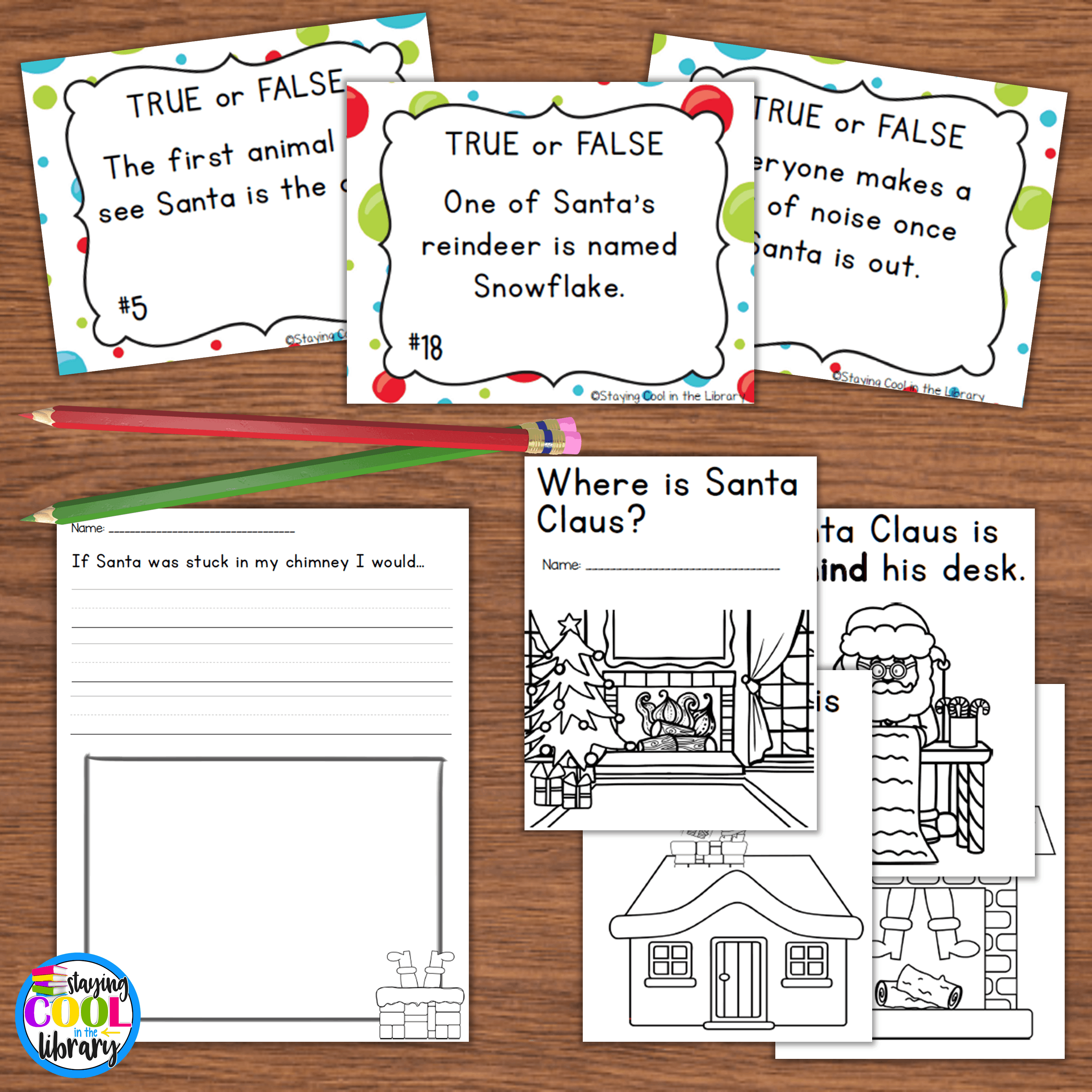 Christmas lesson plans literacy activity